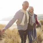 Senior couple on a coastal walk