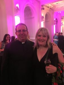 Claire Sully and Rev Richard Coles at Museum and Heritage Show