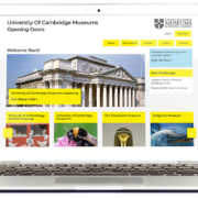 Laptop displaying UOC Volunteer Makers website